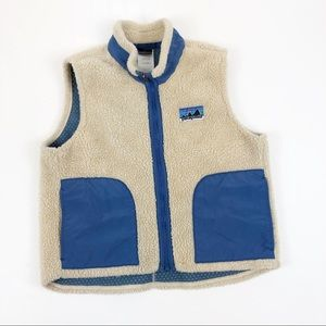 PATAGONIA | Cream Fleece Sherpa Retro X Vest Kids